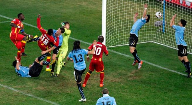 Asamoah Gyan Suarez Uruguay