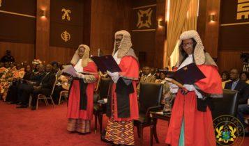 Justices Mariama Owusu, Avril Lovelace-Johnson and Justice Gertrude Araba Esaaba Torkornoo