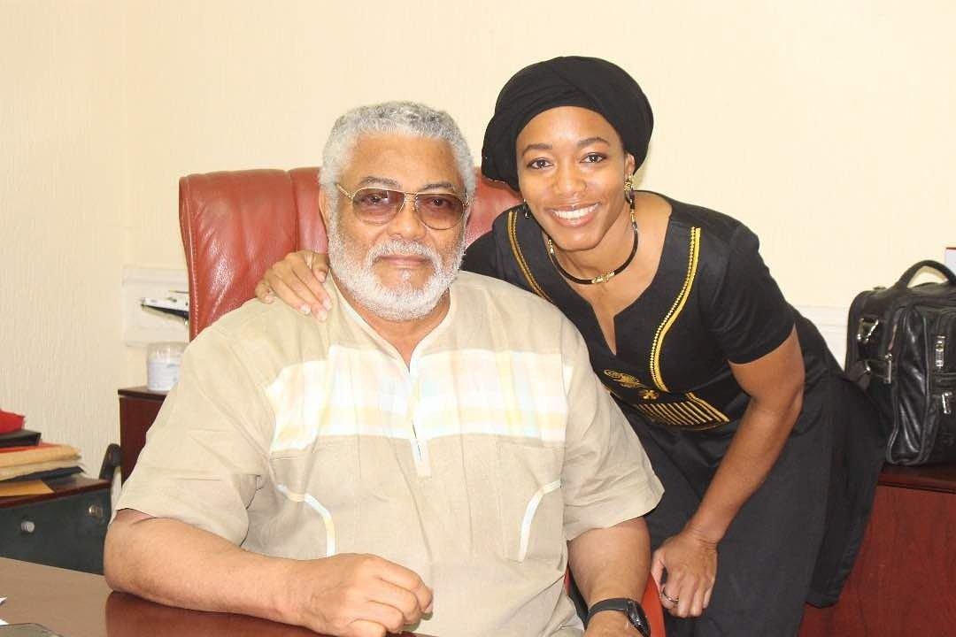 Dr Zanetor Agyeman Rawlings and former President Jerry John Rawlings